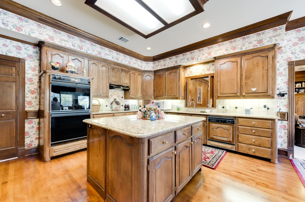 Kitchen Real Wood Cabinets Stained
